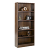 Nexera Essentials Truffle 71.5-in 5-Shelf Bookcase