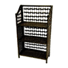 Oriental Furniture Natural Fiber Black 33-in 3-Shelf Bookcase