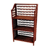 Oriental Furniture Natural Fiber Mahogany 33-in 3-Shelf Bookcase