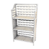 Oriental Furniture Natural Fiber White 33.5-in 3-Shelf Bookcase