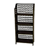 Oriental Furniture Natural Fiber Black 43-in 4-Shelf Bookcase