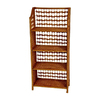 Oriental Furniture Natural Fiber Honey 43-in 4-Shelf Bookcase