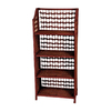 Oriental Furniture Natural Fiber Mahogany 43-in 4-Shelf Bookcase