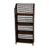 Oriental Furniture Natural Fiber Mocha 20-in W x 43-in H x 10-in D 4-Shelf Bookcase