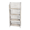Oriental Furniture Natural Fiber White 43.5-in 4-Shelf Bookcase