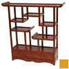 Oriental Furniture Netsuke Honey 20-in 5-Shelf Bookcase