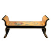Oriental Furniture Lacquer Black Lacquer/Gold Leaf Entryway Bench