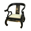 Oriental Furniture Lacquer Black Lacquer Accent Chair