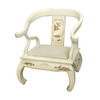 Oriental Furniture Lacquer Ivory Lacquer Accent Chair