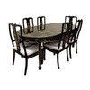 Oriental Furniture Lacquer Fine Black Lacquer Dining Set