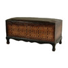 Oriental Furniture Olde-Worlde European Black Lacquer Indoor Entryway Bench