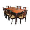 Oriental Furniture Two-Tone Rosewood Dining Set
