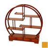 Oriental Furniture Mingei Honey 19-in 6-Shelf Bookcase