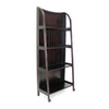 Oriental Furniture Decorative Storage Clear 60-in 4-Shelf Bookcase