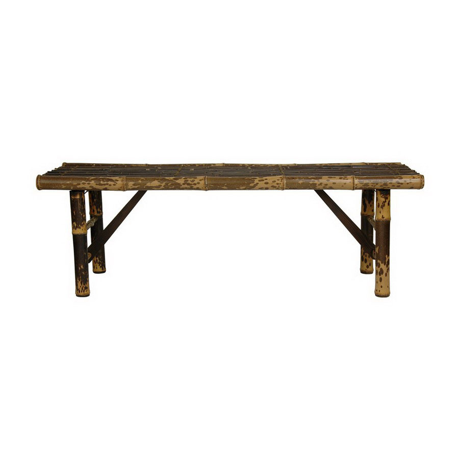 Shop Oriental Furniture Japanese Bamboo Light Indoor Entryway Bench At