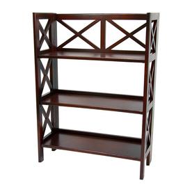 Oriental Furniture Classic Design Cherry 37.5-in 3-Shelf Bookcase