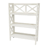 Oriental Furniture Classic Design White 37.5-in 3-Shelf Bookcase