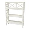Oriental Furniture Classic Design White 37.5-in 3-Shelf Bookcase