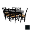 Oriental Furniture Classic Design Black Dining Set