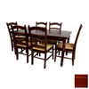 Oriental Furniture Classic Design Cherry Dining Set