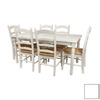 Oriental Furniture Classic Design White Dining Set