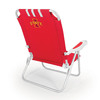 Picnic Time Red NCAA Iowa State Cyclones Steel Folding Beach Chair