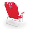 Picnic Time Red NCAA Kansas Jayhawks Steel Folding Beach Chair