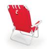 Picnic Time Red NCAA Cincinnati Bearcats Steel Folding Beach Chair