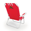Picnic Time Red NCAA Cornell Big Red Steel Folding Beach Chair