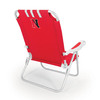 Picnic Time Red NCAA Northeastern Huskies Steel Folding Beach Chair