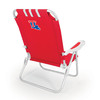 Picnic Time Red NCAA Louisiana Tech Bulldogs Steel Folding Beach Chair