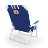 Picnic Time Navy NCAA Auburn University Tigers Steel Folding Beach Chair