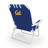 Picnic Time Navy NCAA California Golden Bears Steel Folding Beach Chair