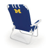 Picnic Time Navy NCAA Michigan Wolverines Steel Folding Beach Chair