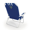 Picnic Time Navy NCAA West Virginia Mountaineers Steel Folding Beach Chair