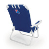 Picnic Time Navy NCAA Louisiana Tech Bulldogs Steel Folding Beach Chair