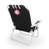 Picnic Time Black NCAA Alabama Crimson Tide Steel Folding Beach Chair