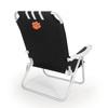 Picnic Time Black NCAA Clemson Tigers Steel Folding Beach Chair