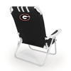 Picnic Time Black NCAA Georgia Bulldogs Steel Folding Beach Chair