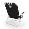 Picnic Time Black NCAA Illinois Fighting Illini Steel Folding Beach Chair