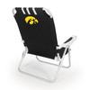 Picnic Time Black NCAA Iowa Hawkeyes Steel Folding Beach Chair