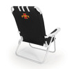 Picnic Time Black NCAA Iowa State Cyclones Steel Folding Beach Chair