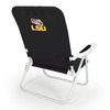Picnic Time Black NCAA Lsu Tigers Steel Folding Beach Chair