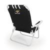 Picnic Time Black NCAA Missouri Tigers Steel Folding Beach Chair