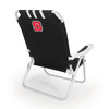 Picnic Time Black NCAA North Carolina State Wolfpack Steel Folding Beach Chair