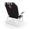 Picnic Time Black NCAA Oklahoma Sooners Steel Folding Beach Chair