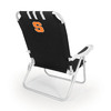 Picnic Time Black NCAA Syracuse Orange Steel Folding Beach Chair