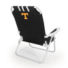Picnic Time Black NCAA Tennessee Volunteers Steel Folding Beach Chair