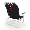 Picnic Time Black NCAA Cincinnati Bearcats Steel Folding Beach Chair