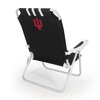 Picnic Time Black NCAA Indiana Hoosiers Steel Folding Beach Chair